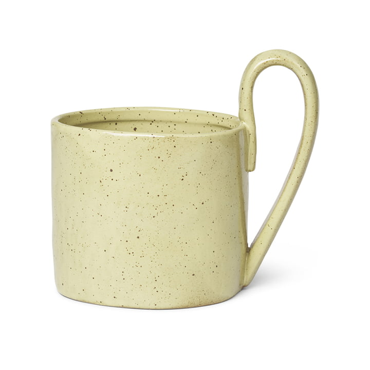 Flow Mug by ferm Living in yellow