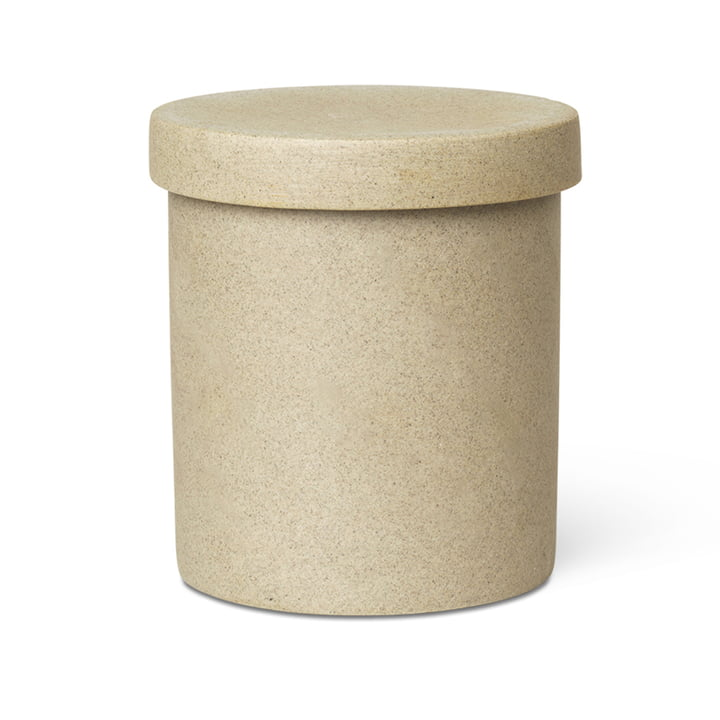 Bon Accessoires Storage box large from ferm Living in beige / black