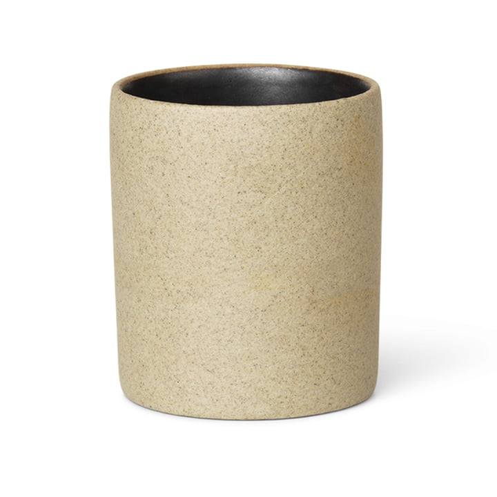 ferm Living - Bon Accessoires Cup, beige / black