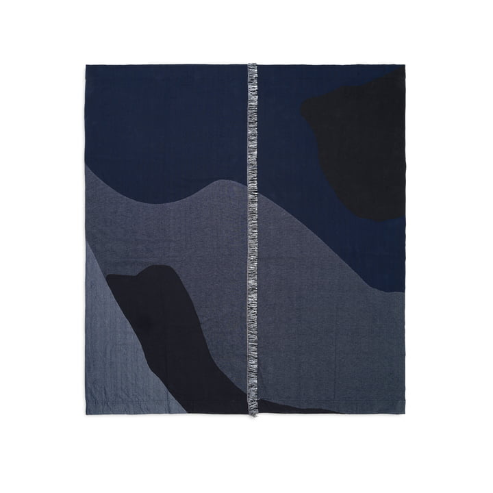 Vista bedspread 240 x 250 cm by ferm Living in dark blue
