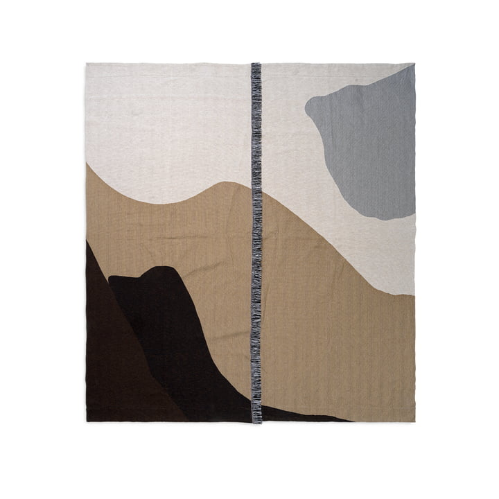 Vista Bedspread 140 x 180 cm from ferm Living in sand