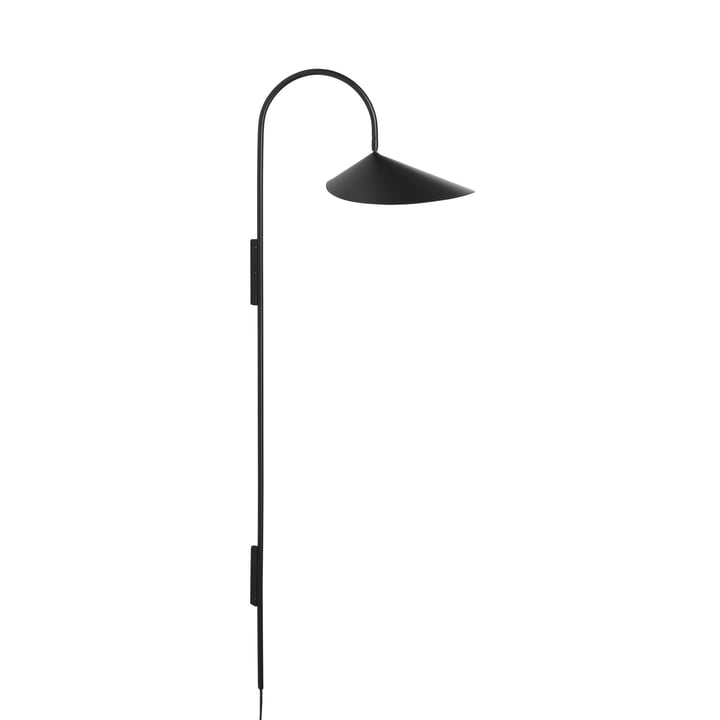 Arum Tall wall lamp by ferm Living in black