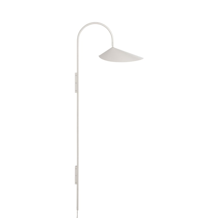 Arum Tall wall lamp by ferm Living in cashmere