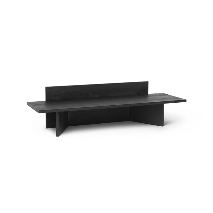 Oblique Bench by ferm Living in black oiled oak