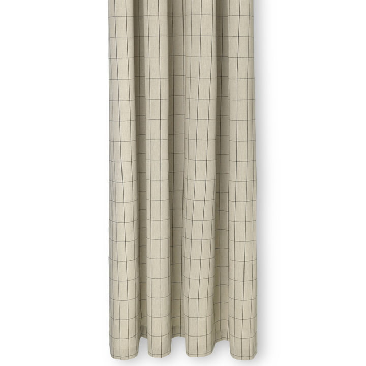 Chambray Shower curtain, checkered / sand from ferm Living