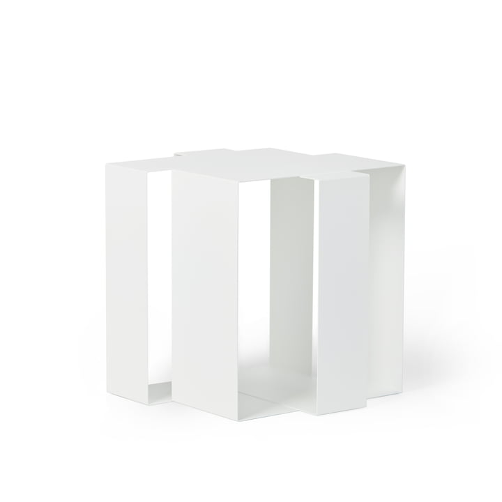 Shifted Square Side table from Frederik Roijé in white