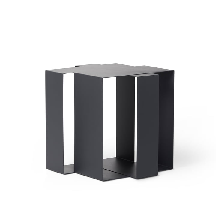 Shifted Square Side table from Frederik Roijé in dark grey
