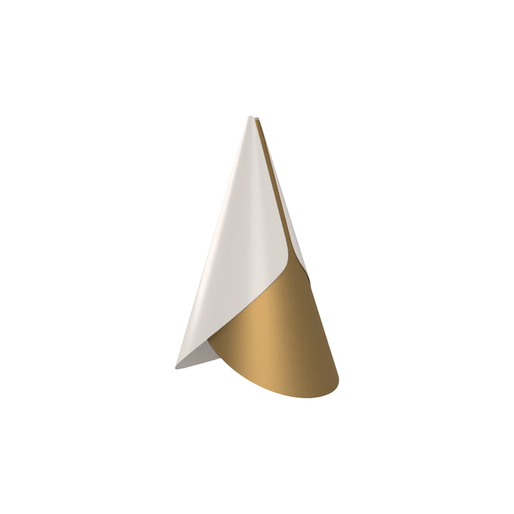 Umage - Cornet lampshade, Ø 1 3. 4 x 2 3. 8 cm, brass / white