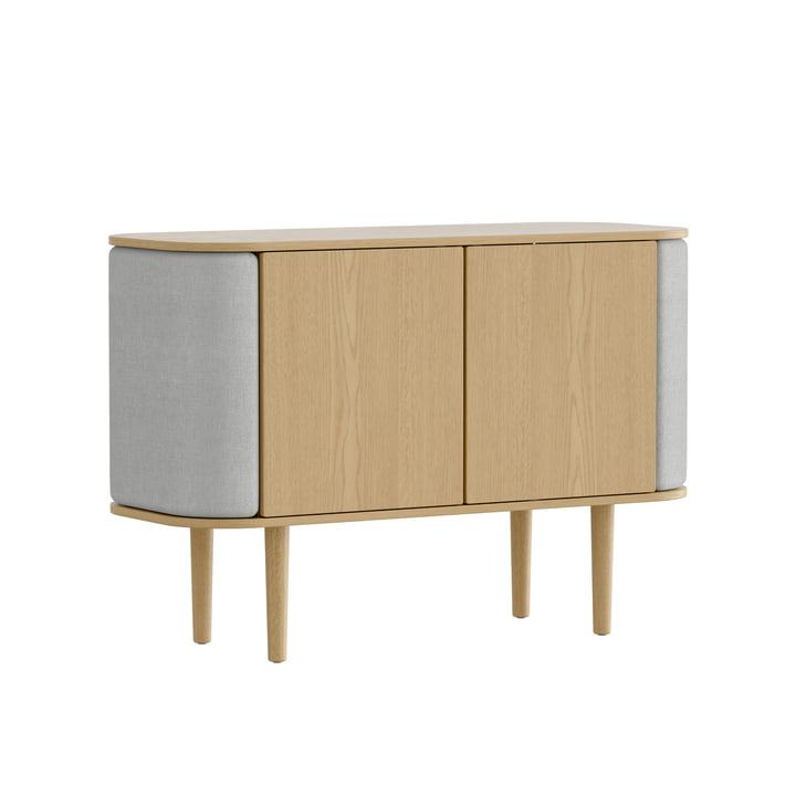 Treasures Sideboard with 2 doors, oak / silver grey from Umage