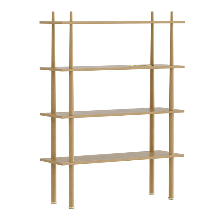 Umage - Stories Stand shelf with 4 shelves, brass / oak