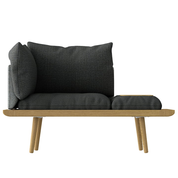 Lounge Around 1. 5 seats from Umage in oak / slate grey / dark grey