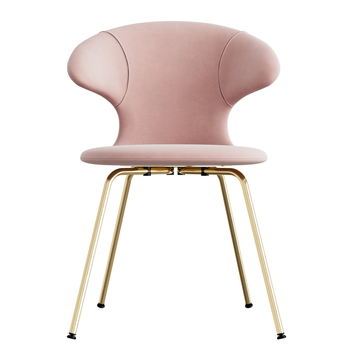 Time Flies Chair, base brass, pale rose / pale rose from Umage