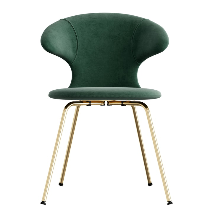 Time Flies Chair, base brass, forest green / forest green from Umage
