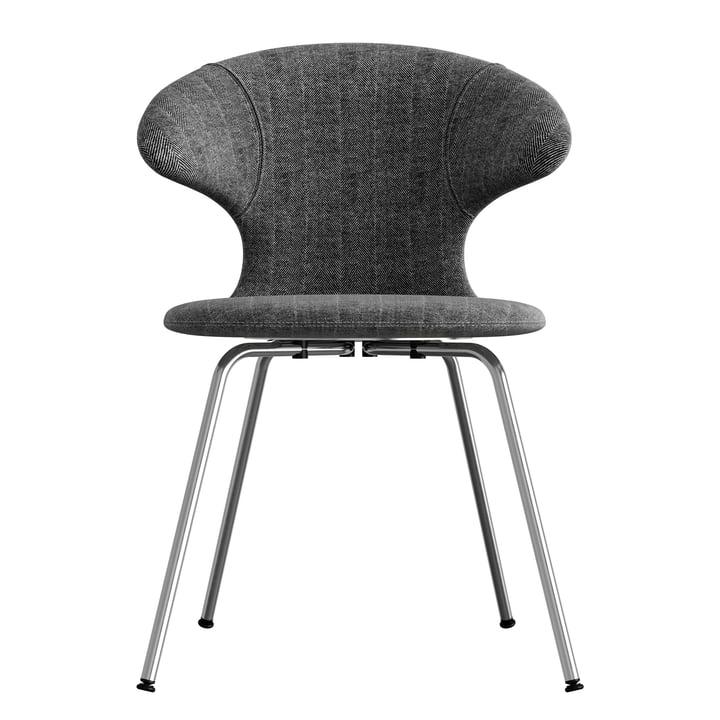 Time Flies Chair, chrome base, tweed / tweed by Umage