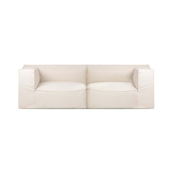 Catena 2-seater sofa Dry Cotton Slub by ferm Living in off-white