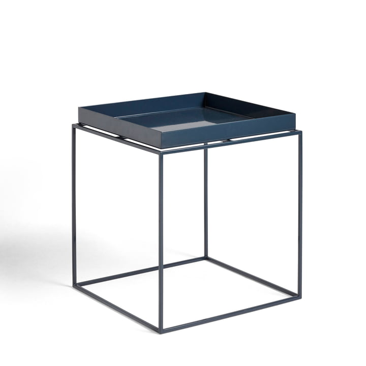 Tray Table 40 x 40 cm from Hay in deep blue shiny