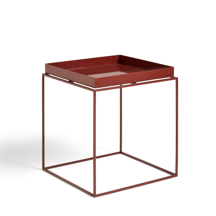 Tray Table 40 x 40 cm from Hay in chocolate glossy