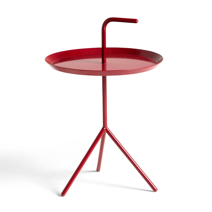 DLM side table from Hay in cherry red glossy