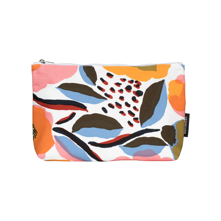 Rosarium cosmetic bag 20 x 31 x 9 cm from Marimekko in white / red / yellow / blue