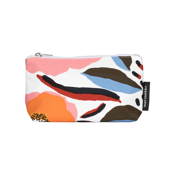 Rosarium cosmetic bag 11 x 19 x 5 cm from Marimekko in white / red / yellow / blue