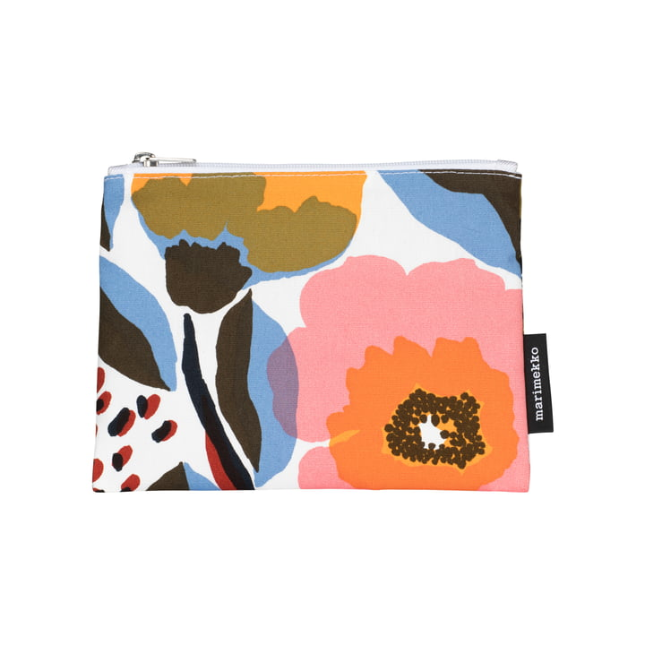 Rosarium cosmetic bag 14 x 21 cm from Marimekko in white / red / yellow / blue