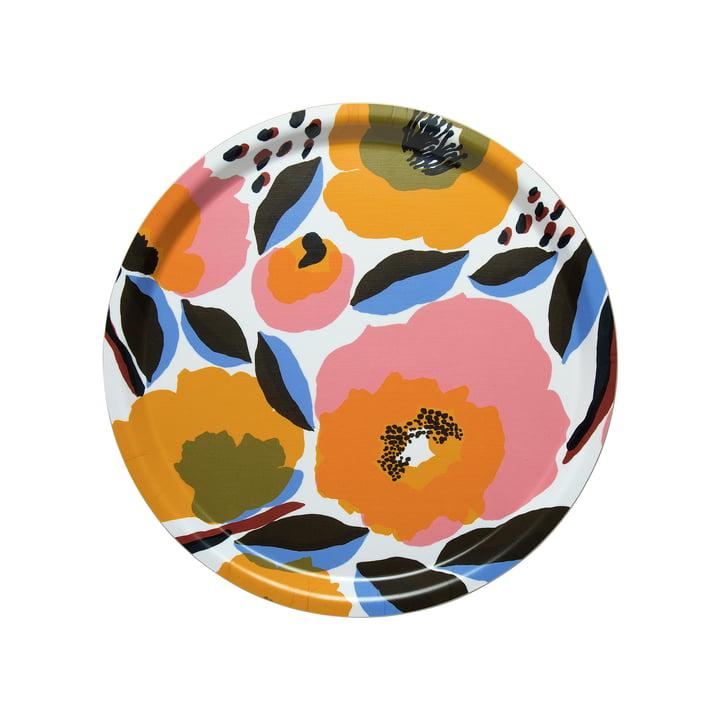 Marimekko - Rosarium Tray Ø 31 cm, white / red / yellow / blue (Spring/Summer 2020)