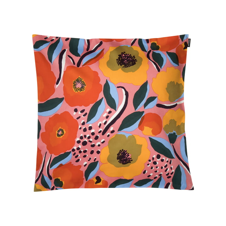 Rosarium cushion cover 50 x 50 cm from Marimekko in pink / blue / red
