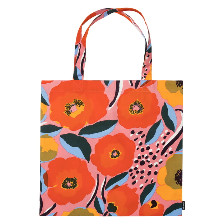 Rosarium shopping bag from Marimekko in pink / blue / red