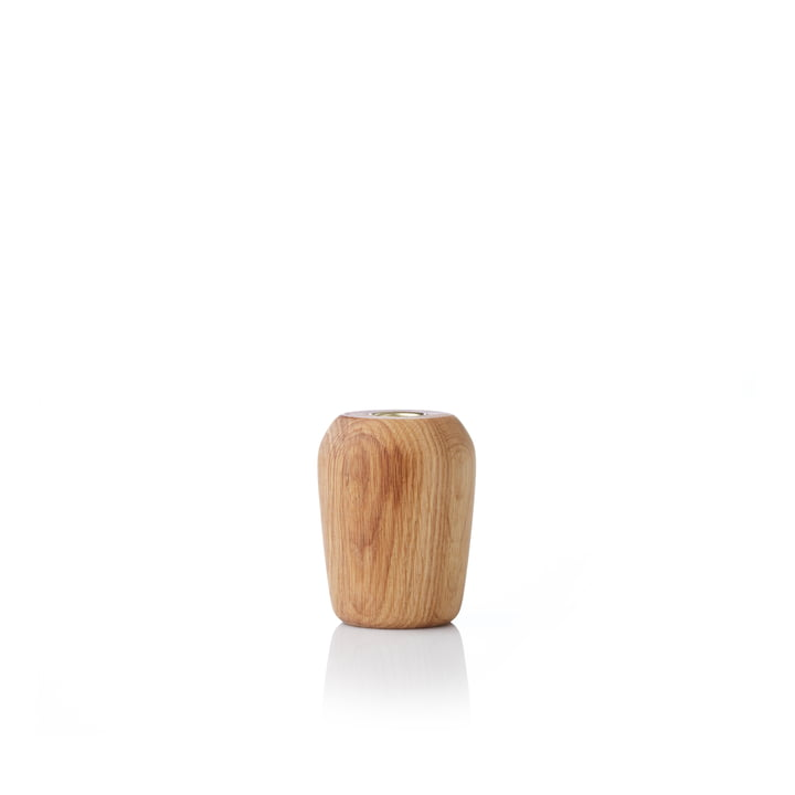 Torso Candlestick 9 cm from applicata oiled in oak