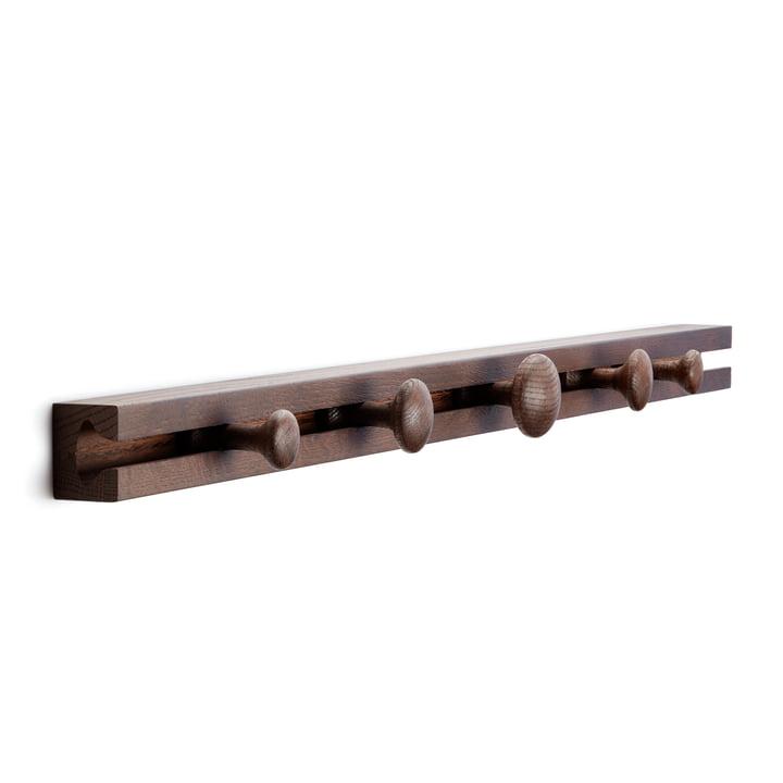 Track Coat Rack wardrobe rack 90 cm from applicata smoked in oak