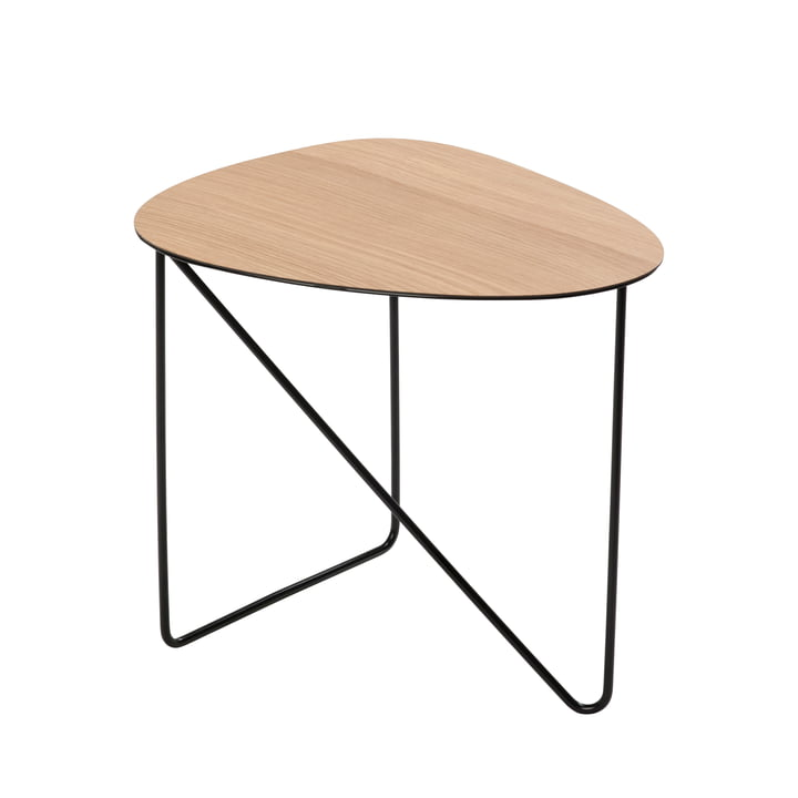 Curve Side table M, oak / black from LindDNA