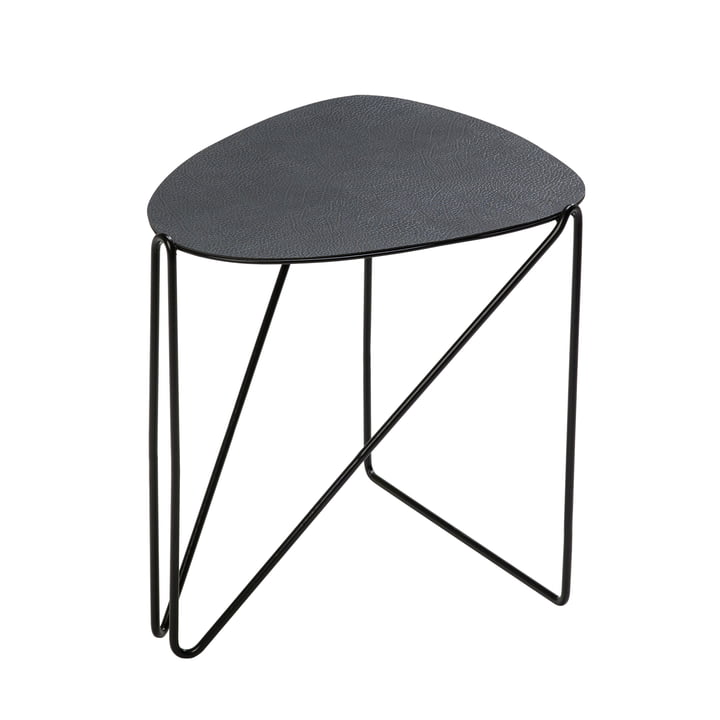 Curve Chameleon side table, Hippo anthracite black by LindDNA