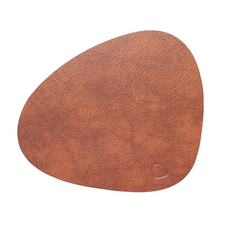 Place mat Curve L, Bull cognac from LindDNA