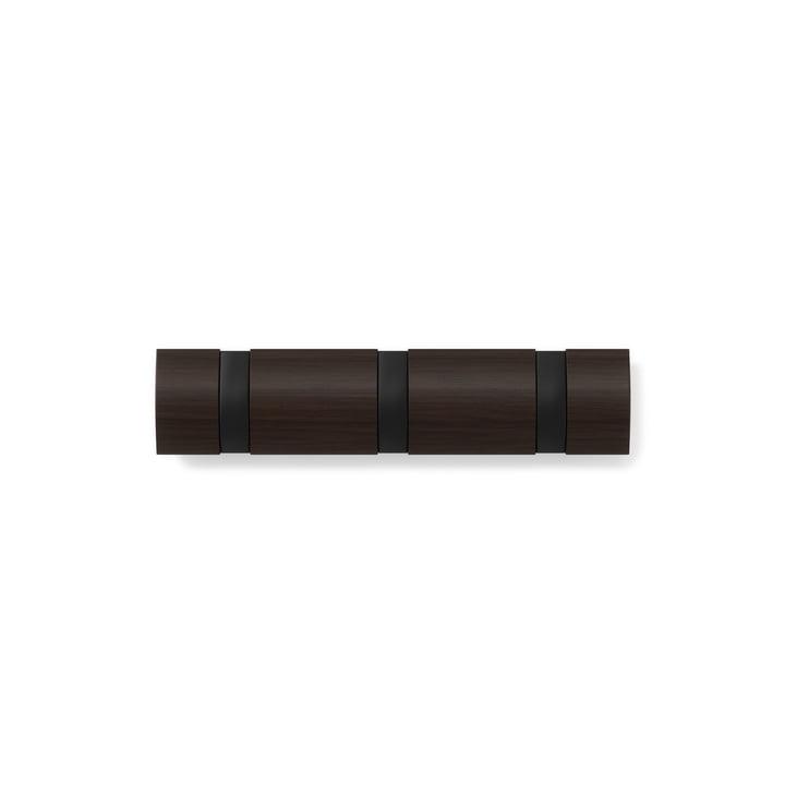Flip Hook 3er Wardrobe rail from Umbra in walnut / black
