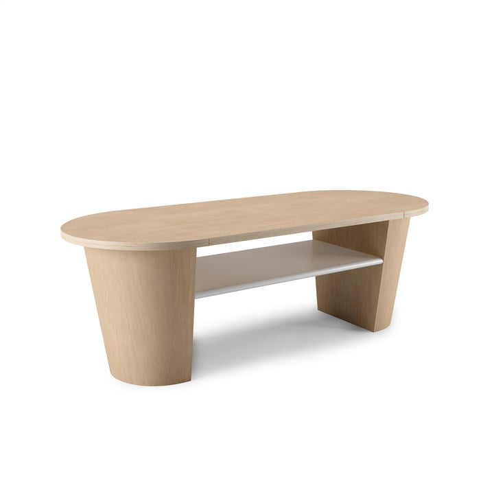 Woodrow coffee table with storage space from Umbra in nature / white