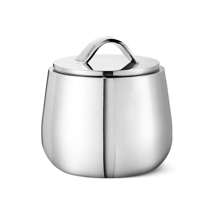 Helix Sugar bowl, stainless steel by Georg Jensen