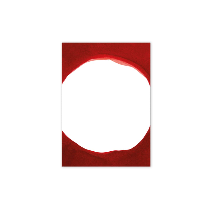 Paper Collective - Enso Red III Poster, 30 x 40 cm from Paper Collective