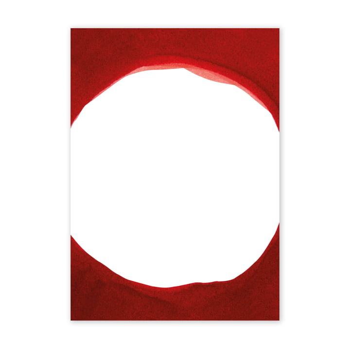 Enso Red III Poster, 50 x 70 cm from Paper Collective