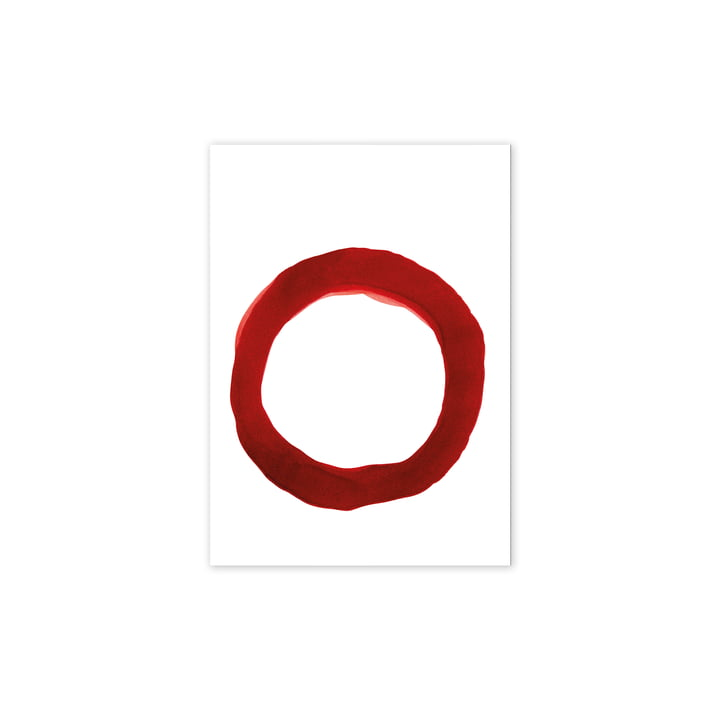 Enso Red IV Poster, 30 x 40 cm from Paper Collective