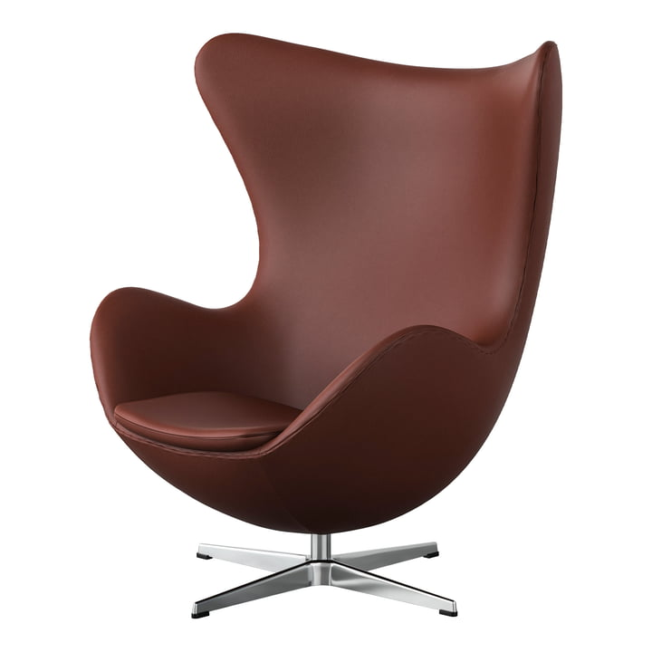 Egg Chair from Fritz Hansen in Chrome / Spectrum leather rust-brown (special edition)