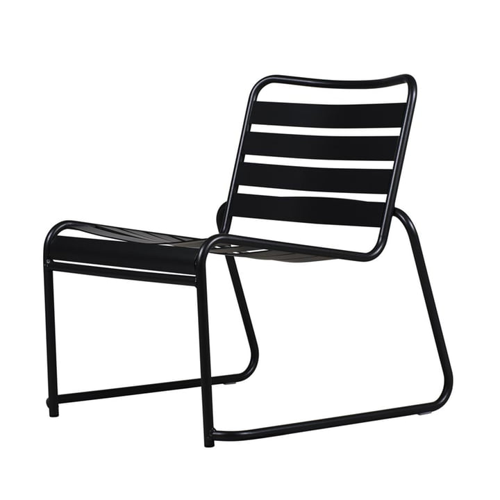 Lido Metall Lounge armchair from Fiam in black