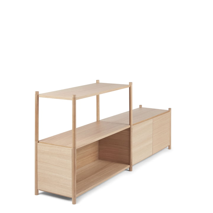 Sceene Standing shelf D from Gejst in light oak