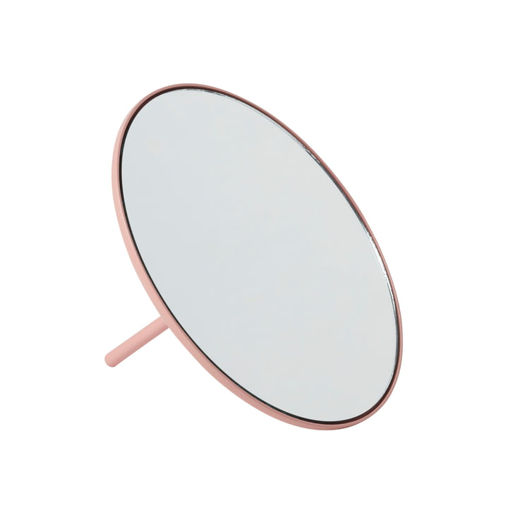 IO table mirror Ø 18 cm from Gejst in rose