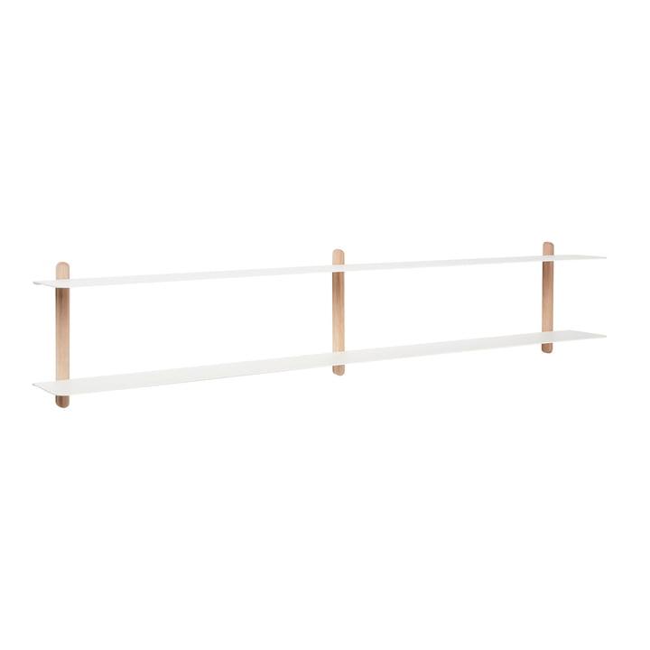 Nivo wall shelf C from Gejst in light oak / white