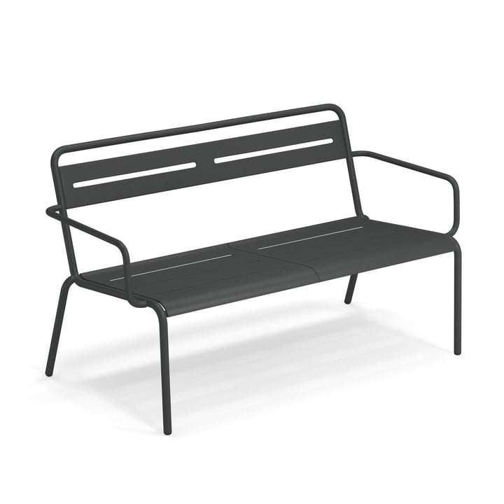 Star Sofa with armrests from Emu in antique iron