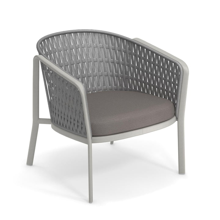 Carousel lounge chair Flat 1218, cement/grey from Emu