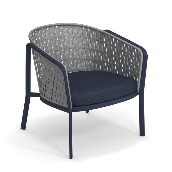 Carousel lounge chair Flat 1218, blue / grey from Emu