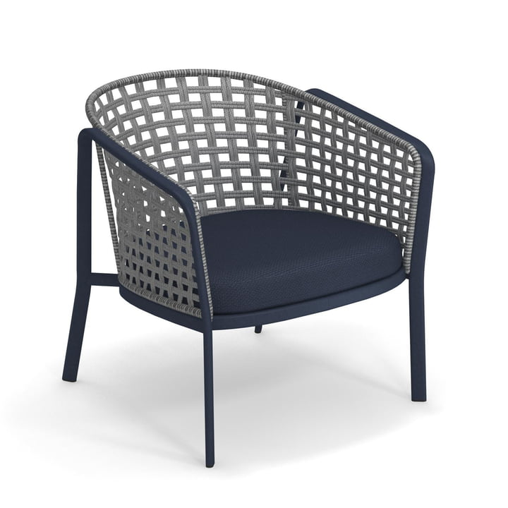 Carousel lounge chair Square Twist 1217, blue / grey from Emu