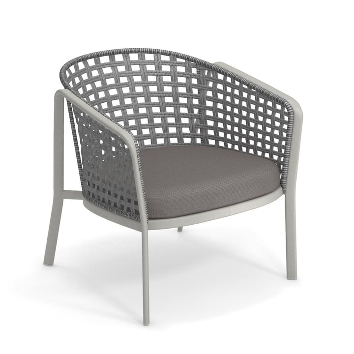 Carousel lounge chair Square Twist 1217, cement / grey from Emu