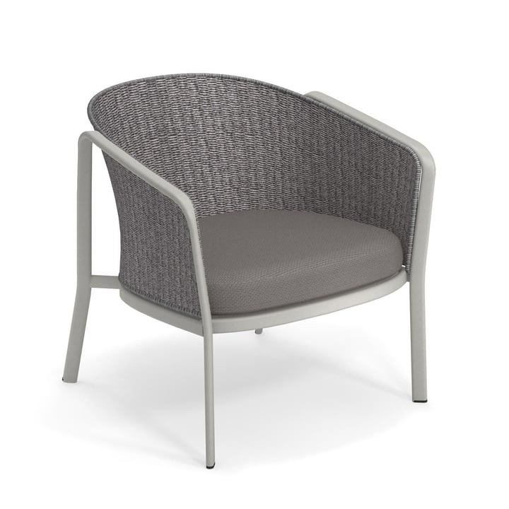 Carousel lounge chair Thick Twist 1216, cement / grey from Emu